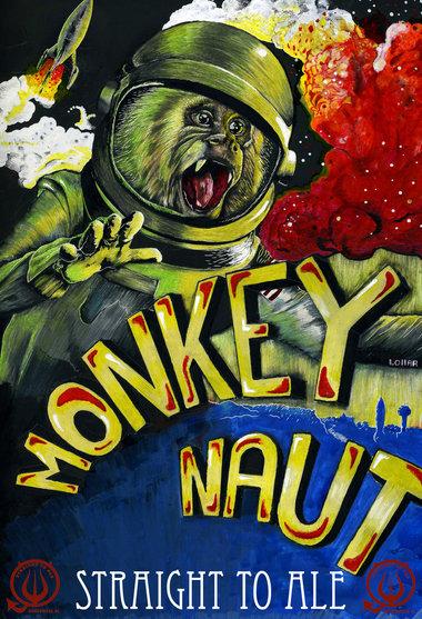 Monkeynaut Can Art