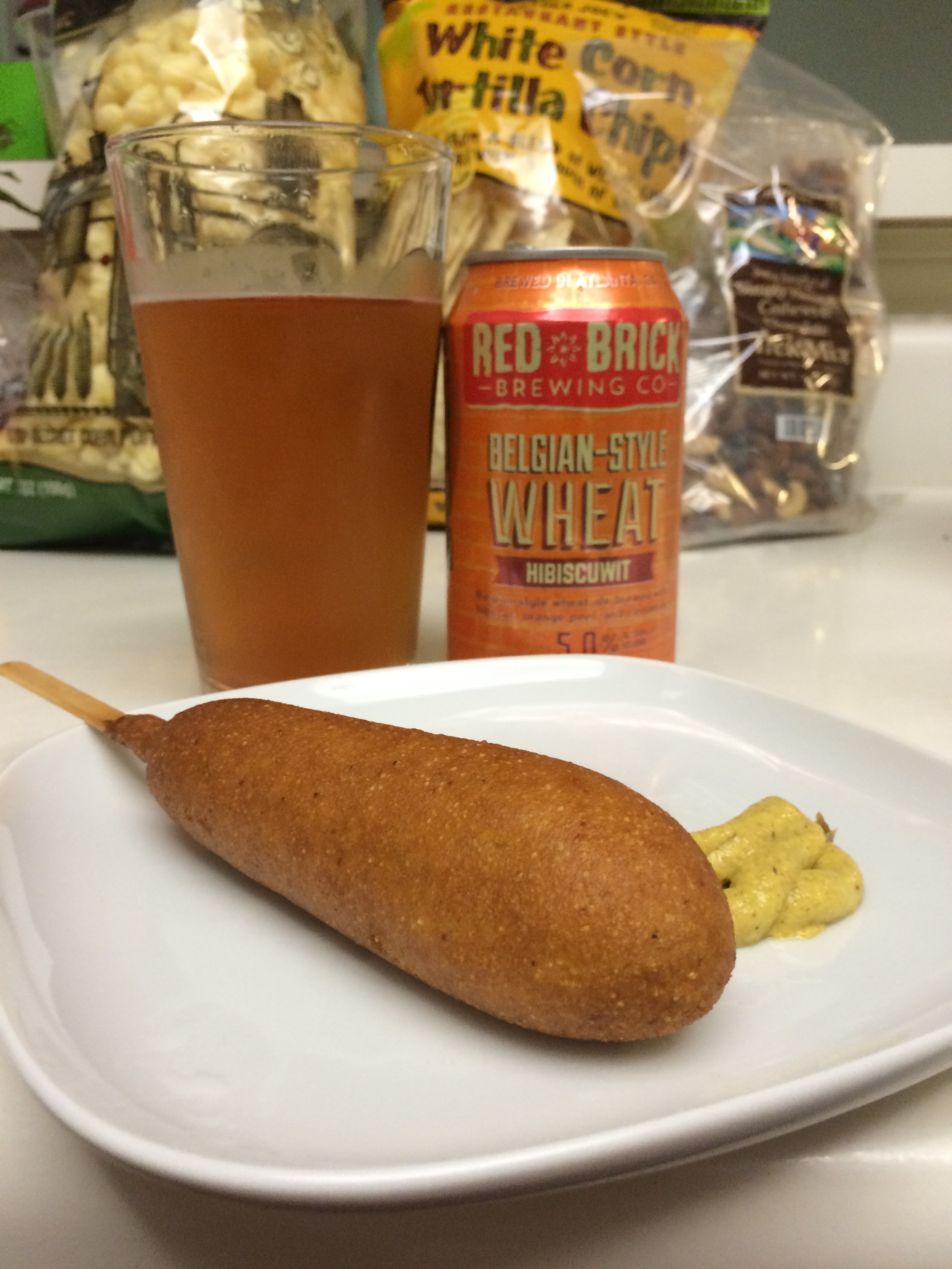 Summer in a photo (IE Corn Dogs and Beer)
